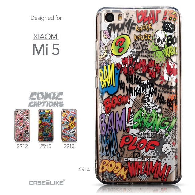 Collection - CASEiLIKE Xiaomi Mi 5 back cover Comic Captions 2914