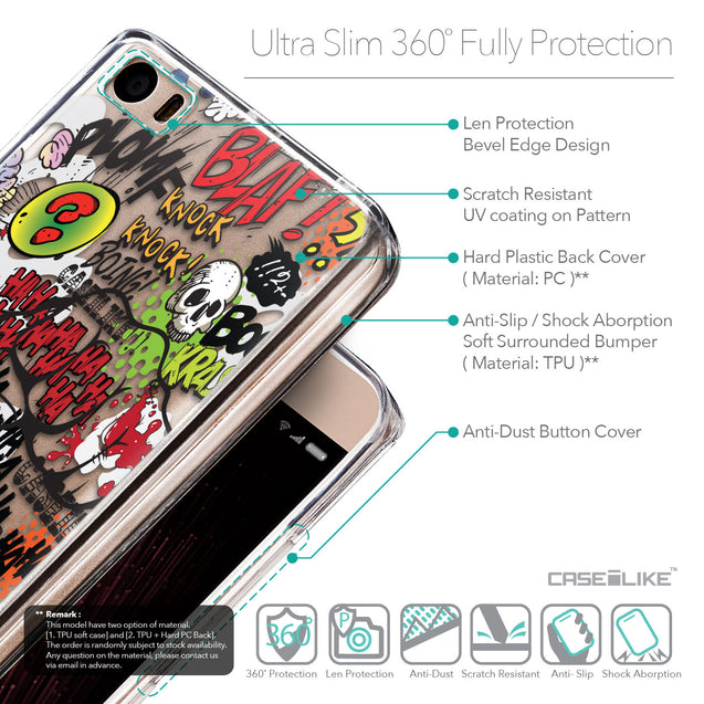 Details in English - CASEiLIKE Xiaomi Mi 5 back cover Comic Captions 2914