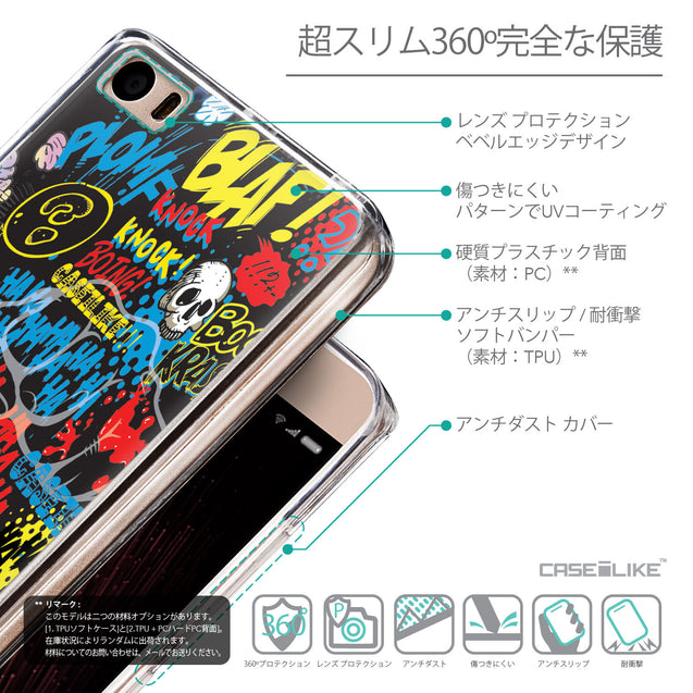 Details in Japanese - CASEiLIKE Xiaomi Mi 5 back cover Comic Captions Black 2915