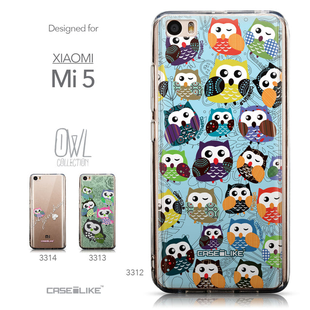 Collection - CASEiLIKE Xiaomi Mi 5 back cover Owl Graphic Design 3312