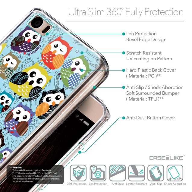 Details in English - CASEiLIKE Xiaomi Mi 5 back cover Owl Graphic Design 3312