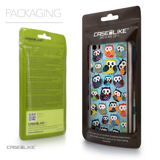 Packaging - CASEiLIKE Xiaomi Mi 5 back cover Owl Graphic Design 3312
