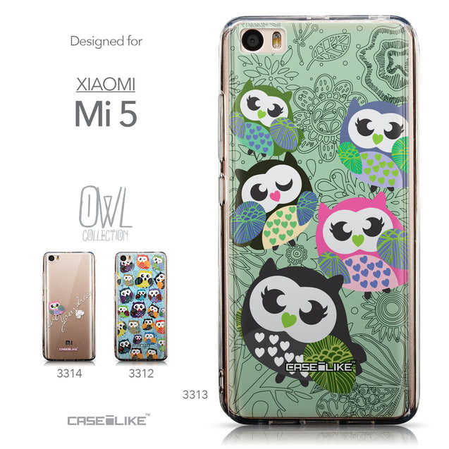 Collection - CASEiLIKE Xiaomi Mi 5 back cover Owl Graphic Design 3313