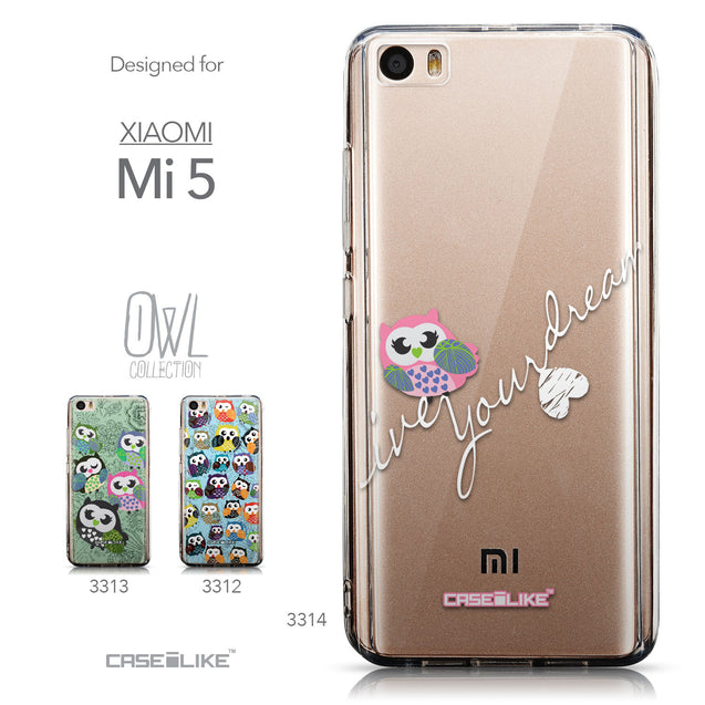 Collection - CASEiLIKE Xiaomi Mi 5 back cover Owl Graphic Design 3314