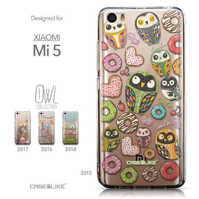 Collection - CASEiLIKE Xiaomi Mi 5 back cover Owl Graphic Design 3315