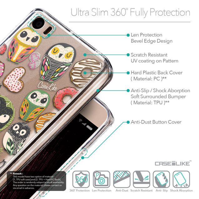 Details in English - CASEiLIKE Xiaomi Mi 5 back cover Owl Graphic Design 3315