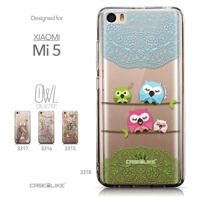 Collection - CASEiLIKE Xiaomi Mi 5 back cover Owl Graphic Design 3318