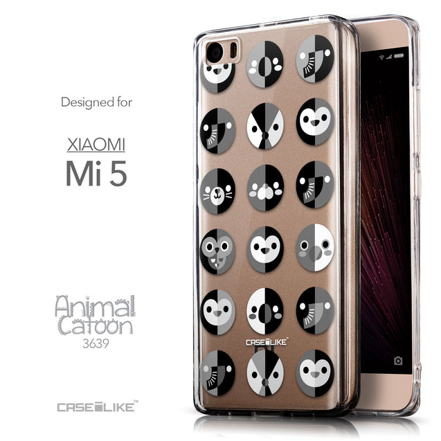 Front & Side View - CASEiLIKE Xiaomi Mi 5 back cover Animal Cartoon 3639