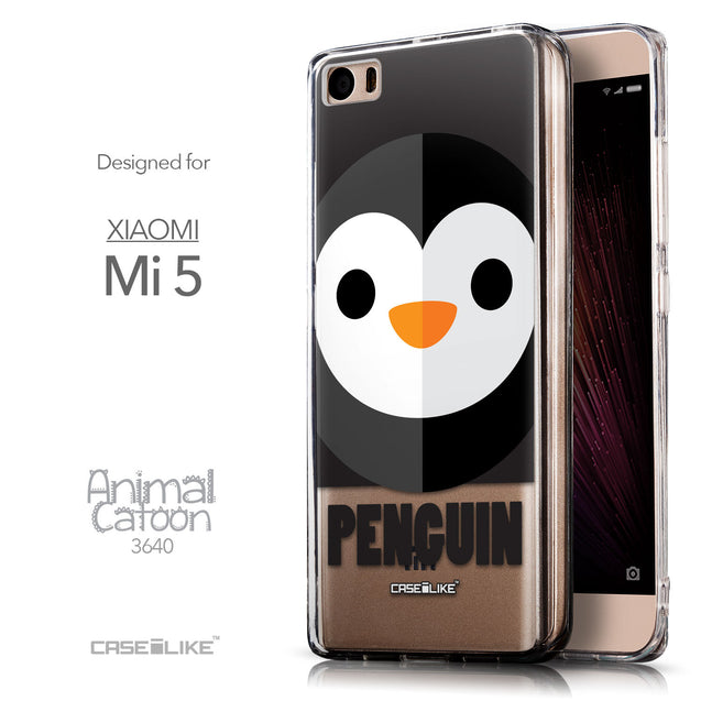 Front & Side View - CASEiLIKE Xiaomi Mi 5 back cover Animal Cartoon 3640