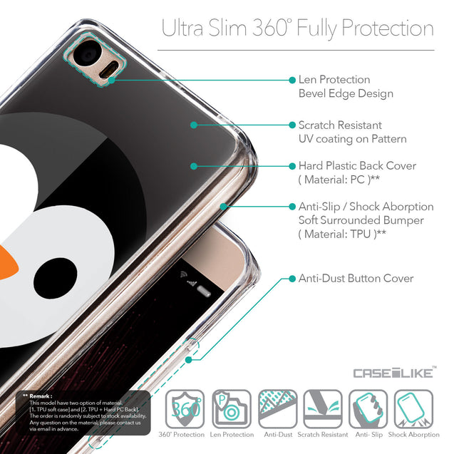 Details in English - CASEiLIKE Xiaomi Mi 5 back cover Animal Cartoon 3640