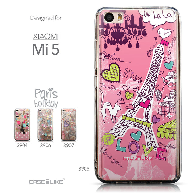 Collection - CASEiLIKE Xiaomi Mi 5 back cover Paris Holiday 3905
