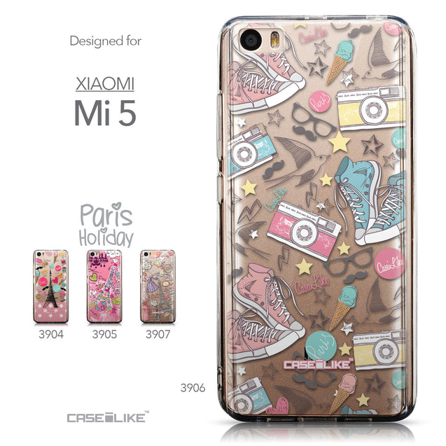 Collection - CASEiLIKE Xiaomi Mi 5 back cover Paris Holiday 3906