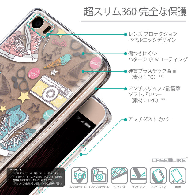 Details in Japanese - CASEiLIKE Xiaomi Mi 5 back cover Paris Holiday 3906