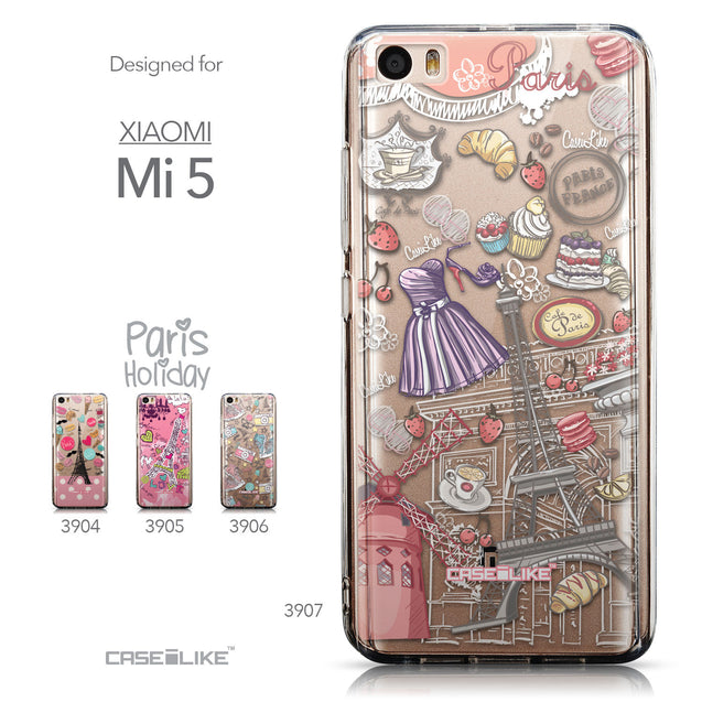 Collection - CASEiLIKE Xiaomi Mi 5 back cover Paris Holiday 3907