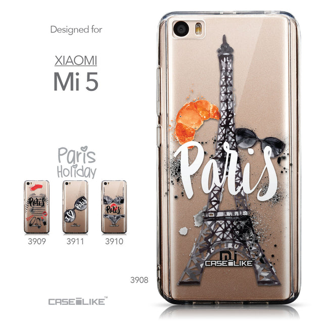 Collection - CASEiLIKE Xiaomi Mi 5 back cover Paris Holiday 3908