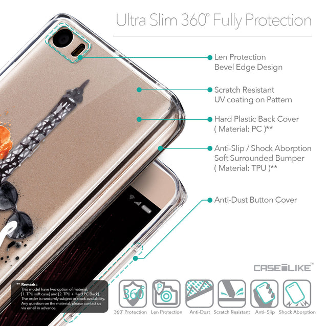 Details in English - CASEiLIKE Xiaomi Mi 5 back cover Paris Holiday 3908