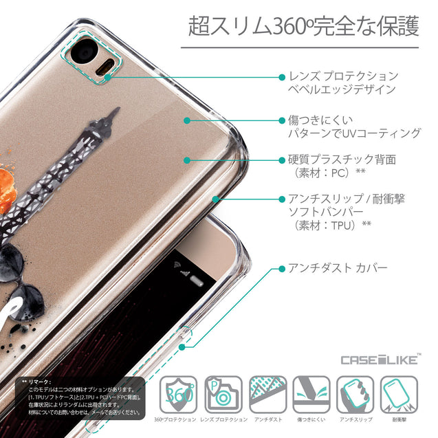 Details in Japanese - CASEiLIKE Xiaomi Mi 5 back cover Paris Holiday 3908
