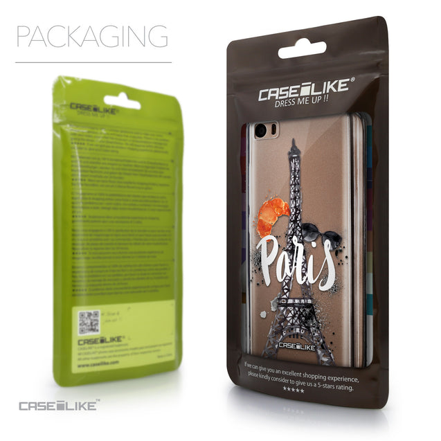 Packaging - CASEiLIKE Xiaomi Mi 5 back cover Paris Holiday 3908