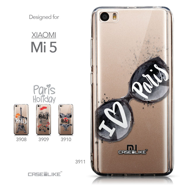 Collection - CASEiLIKE Xiaomi Mi 5 back cover Paris Holiday 3911