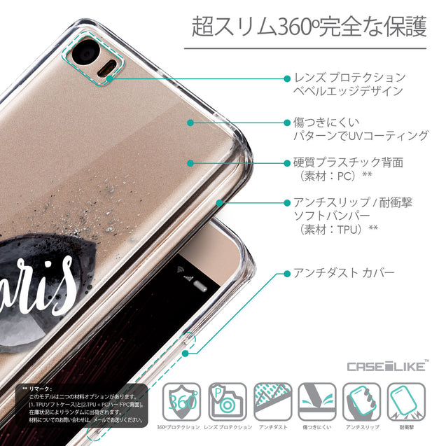 Details in Japanese - CASEiLIKE Xiaomi Mi 5 back cover Paris Holiday 3911