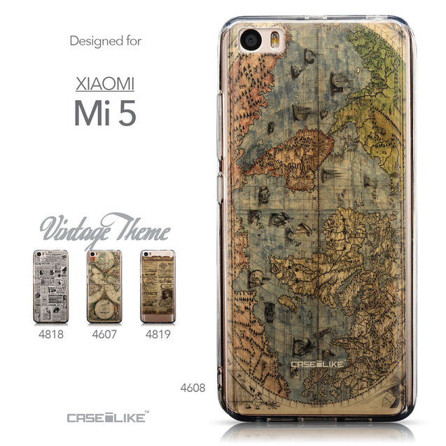 Collection - CASEiLIKE Xiaomi Mi 5 back cover World Map Vintage 4608