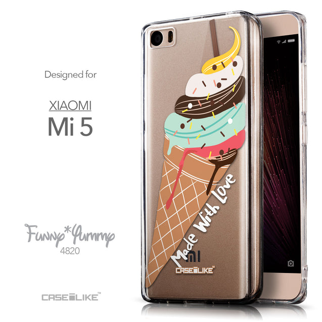 Front & Side View - CASEiLIKE Xiaomi Mi 5 back cover Ice Cream 4820