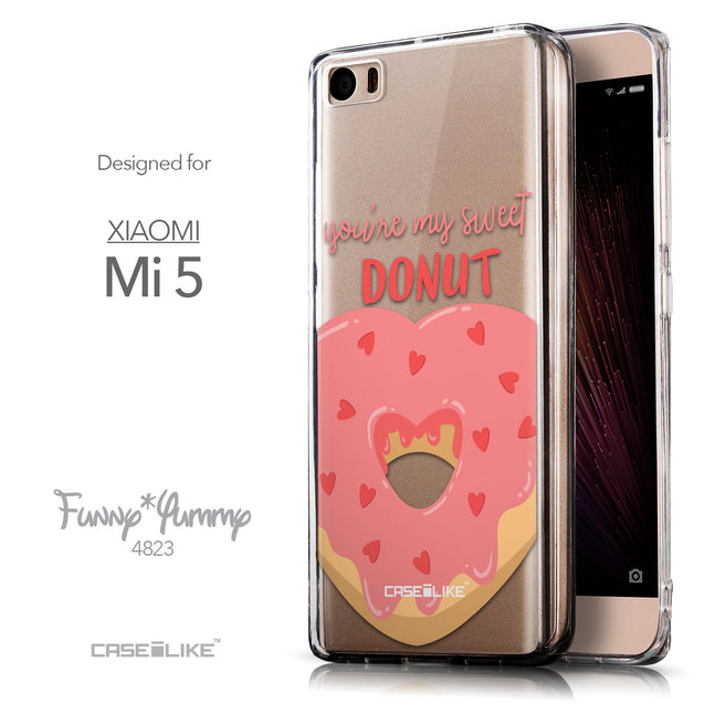 Front & Side View - CASEiLIKE Xiaomi Mi 5 back cover Dounuts 4823