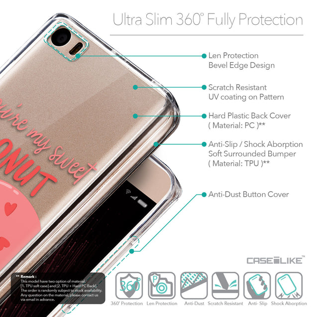 Details in English - CASEiLIKE Xiaomi Mi 5 back cover Dounuts 4823