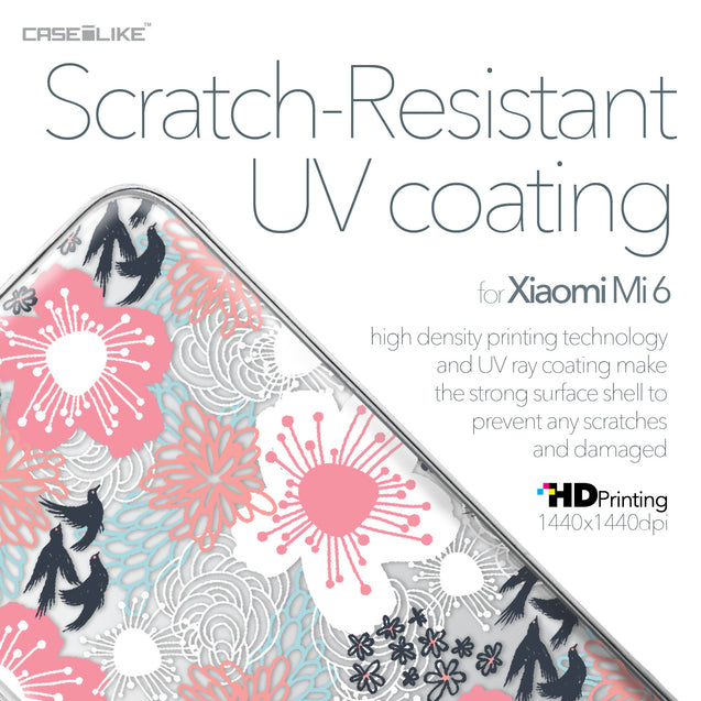 Xiaomi Mi 6 case Japanese Floral 2255 with UV-Coating Scratch-Resistant Case | CASEiLIKE.com