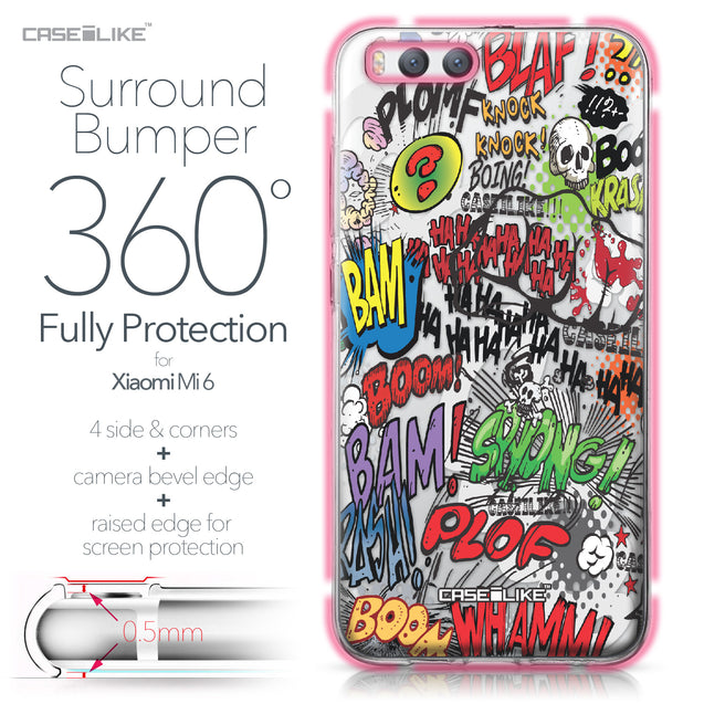 Xiaomi Mi 6 case Comic Captions 2914 Bumper Case Protection | CASEiLIKE.com