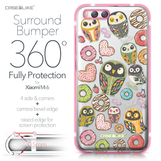 Xiaomi Mi 6 case Owl Graphic Design 3315 Bumper Case Protection | CASEiLIKE.com