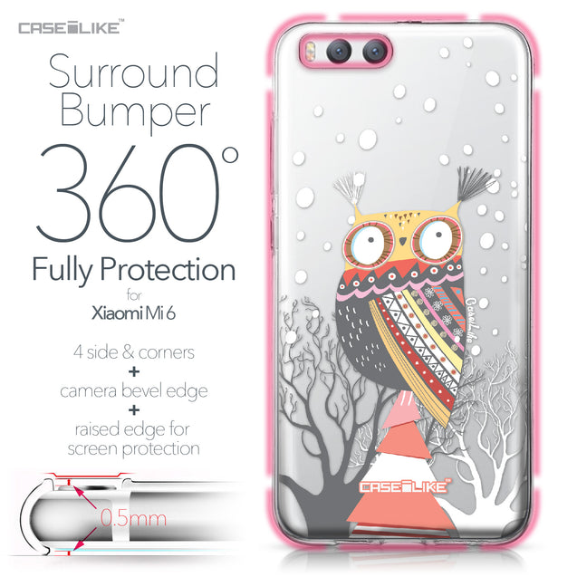 Xiaomi Mi 6 case Owl Graphic Design 3317 Bumper Case Protection | CASEiLIKE.com