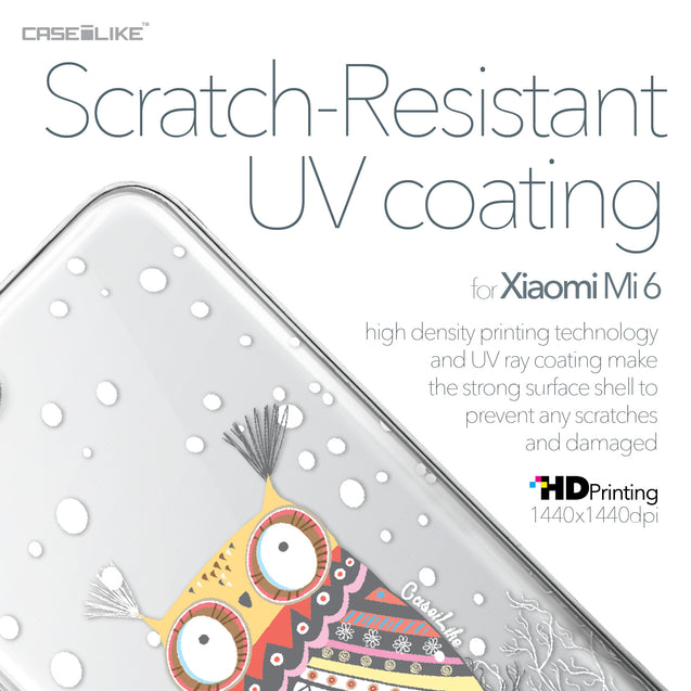 Xiaomi Mi 6 case Owl Graphic Design 3317 with UV-Coating Scratch-Resistant Case | CASEiLIKE.com