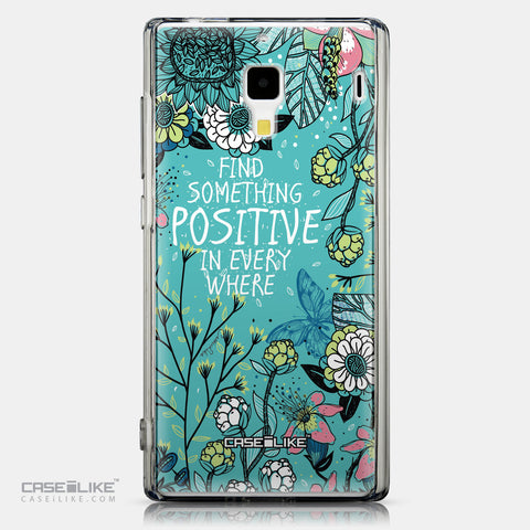 CASEiLIKE Xiaomi Redmi back cover Blooming Flowers Turquoise 2249
