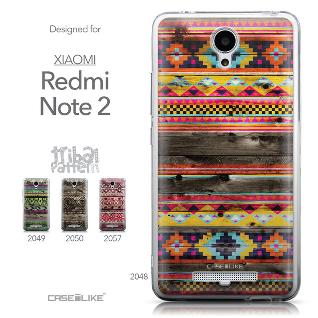 Collection - CASEiLIKE Xiaomi Redmi Note 2 back cover Indian Tribal Theme Pattern 2048