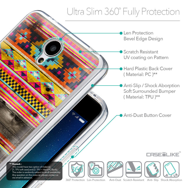 Details in English - CASEiLIKE Xiaomi Redmi Note 2 back cover Indian Tribal Theme Pattern 2048