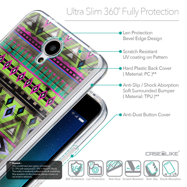 Details in English - CASEiLIKE Xiaomi Redmi Note 2 back cover Indian Tribal Theme Pattern 2049
