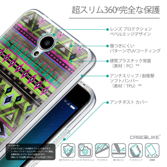 Details in Japanese - CASEiLIKE Xiaomi Redmi Note 2 back cover Indian Tribal Theme Pattern 2049