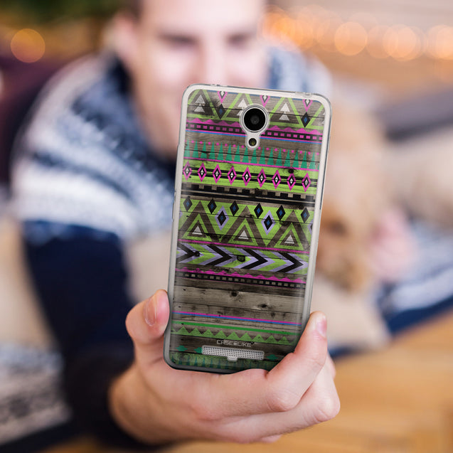 Share - CASEiLIKE Xiaomi Redmi Note 2 back cover Indian Tribal Theme Pattern 2049