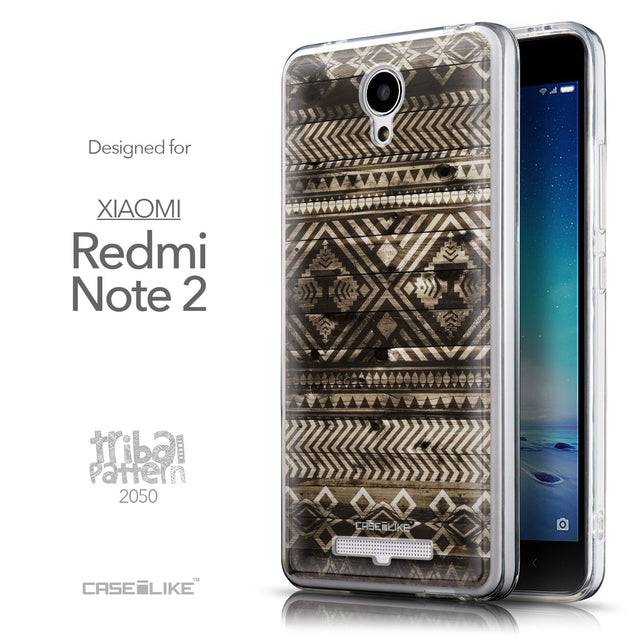 Front & Side View - CASEiLIKE Xiaomi Redmi Note 2 back cover Indian Tribal Theme Pattern 2050