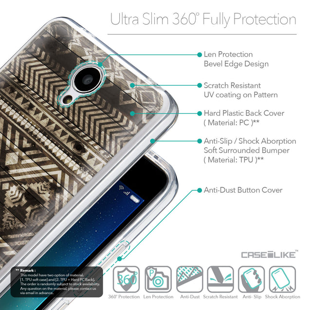 Details in English - CASEiLIKE Xiaomi Redmi Note 2 back cover Indian Tribal Theme Pattern 2050