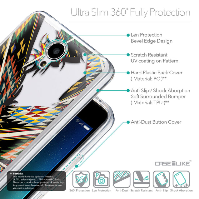 Details in English - CASEiLIKE Xiaomi Redmi Note 2 back cover Indian Tribal Theme Pattern 2053