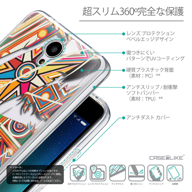Details in Japanese - CASEiLIKE Xiaomi Redmi Note 2 back cover Indian Tribal Theme Pattern 2054