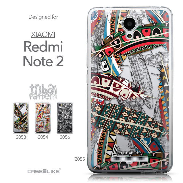 Collection - CASEiLIKE Xiaomi Redmi Note 2 back cover Indian Tribal Theme Pattern 2055