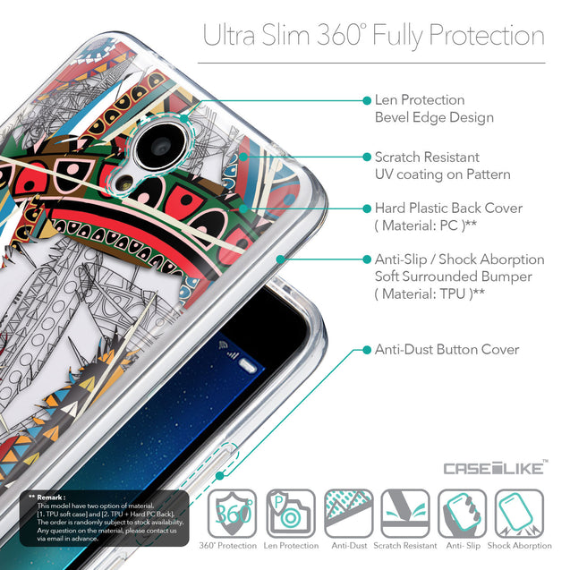 Details in English - CASEiLIKE Xiaomi Redmi Note 2 back cover Indian Tribal Theme Pattern 2055