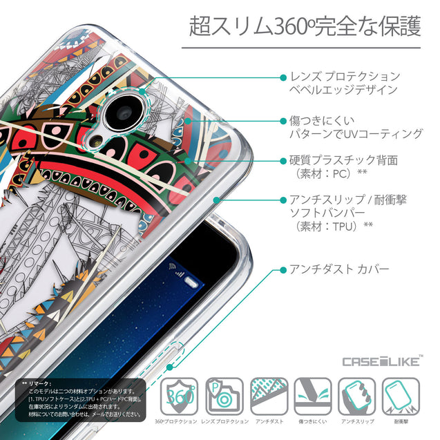 Details in Japanese - CASEiLIKE Xiaomi Redmi Note 2 back cover Indian Tribal Theme Pattern 2055