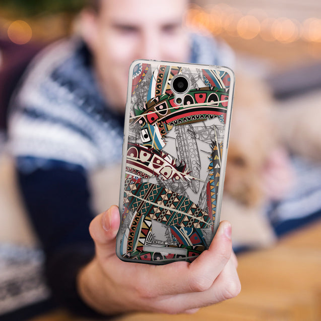 Share - CASEiLIKE Xiaomi Redmi Note 2 back cover Indian Tribal Theme Pattern 2055