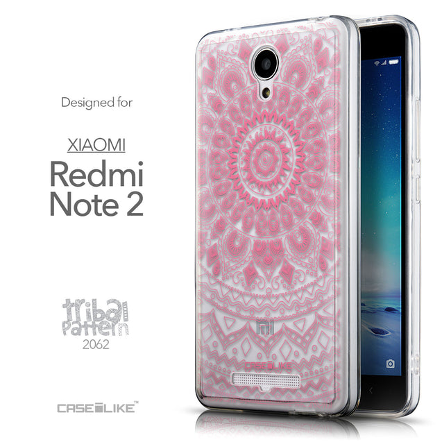 Front & Side View - CASEiLIKE Xiaomi Redmi Note 2 back cover Indian Line Art 2062