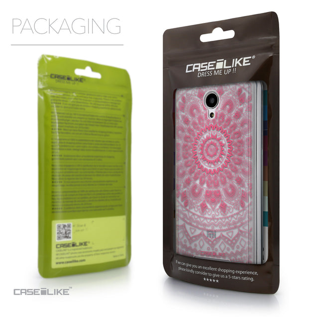 Packaging - CASEiLIKE Xiaomi Redmi Note 2 back cover Indian Line Art 2062