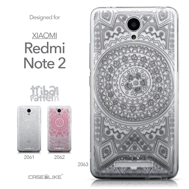 Collection - CASEiLIKE Xiaomi Redmi Note 2 back cover Indian Line Art 2063